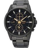 SEIKO 特務交鋒時尚計時手錶-黑/41mm 7T62-0LD0SD(SNAF07P1)