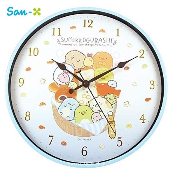 日本限定 角落生物 法國麵包版 連續秒針 壁掛時鐘 / 掛鐘