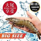 *WANG-買1送1*嚴選鮮凍大尾海草蝦共2盒(280g±10%/盒 每盒8尾入)