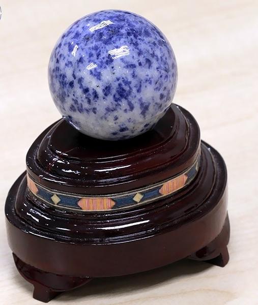 [協貿國際]天然蓝纹石圓球保健球手球單顆價(不含底座)