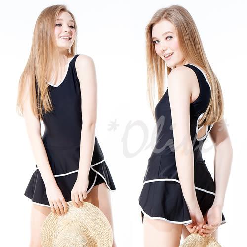 ☆小薇的店☆MIT潘它貝拉【俏麗素雅風格】時尚連身裙泳裝特價1390元NO.1600108(XL)