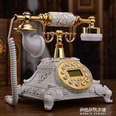 仿古電話機歐式復古電話機座機老式古董田園時尚創意家用電話igo  朵拉朵衣櫥