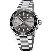 全球限量 ORIS豪利時 AQUIS Hammerhead 機械錶-灰x銀/45.5mm 0175277334183-SetMB