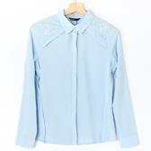 【MASTINA】蕾絲拼接襯衫-藍 0331-6