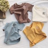 2019春夏款 童裝新品 中小男女童寶寶韓版小熊刺繡 上衣 短袖T恤