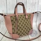 BRAND楓月 GUCCI古馳 449241 粉紅色 經典GG紋 手提包 托特包 斜背包 OUTLET