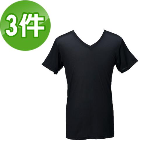 《台塑生醫》Dr's Formula冰晶玉科技涼感衣-男用短袖款(黑)三件/組