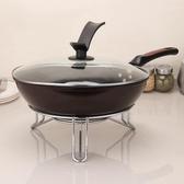 加厚大號鍋架子放鍋架廚房隔熱墊圓形三角架電飯煲餐桌墊收納鍋架 挪威森林
