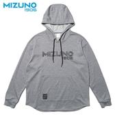 MIZUNO SPORTS STYLE 男裝 上衣 長袖 連帽T恤 1906 棉質 灰【運動世界】D2TA952603