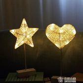 LED小彩燈台燈布置房間臥室夜燈浪漫裝飾星星燈 全館滿千折百