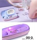 多功能美妝盒工具美妝蛋烘乾化妝刷紫外線消毒收納架旅行套裝