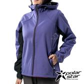 PolarStar 女 Soft Shell保暖外套『紫紅』P19210 戶外│休閒│登山│露營│機能衣│保暖外套│連帽外套