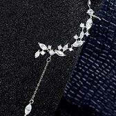 耳環 925純銀鑲鑽-清新樹葉生日情人節禮物女耳飾73du47[時尚巴黎]