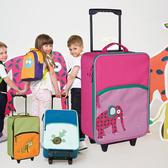 夏令營箱包外貿原單兒童拉桿箱 卡通行李箱 小學生畢業野營拖包