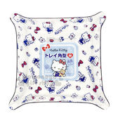 〔小禮堂〕Hello Kitty 塑膠方形置物盤《M.藍.透明.滿版.蝴蝶結.15cm》銅板小物 4573135-57826