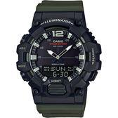 CASIO 卡西歐 10年電力城市旅行手錶-綠 HDC-700-3A / HDC-700-3AVDF