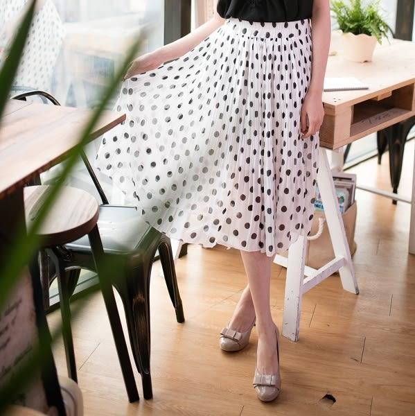 ☆NO.202 SHOP【H8084】~全尺碼~春夏新款~店面可試穿~~點點垂墜雪紡長裙~大尺碼