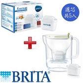 德國 BRITA Style純淨濾水壺(萊姆綠)+濾芯5  入【愛買】