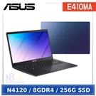 【分24期0利率】ASUS E410MA-1181BN4120 夢想藍(Celeron N4120/8G/256G/Windows 10/HD/14)