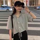 連帽短袖t恤女半袖2020年夏季新款韓版寬鬆高腰短款露臍上衣ins潮 【ifashion·全店免運】