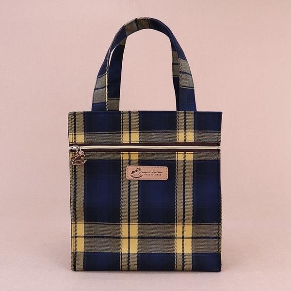 雨朵防水包 u401-15 格紋朴荷提袋(餐袋)