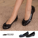 [Here Shoes]2色 蝴蝶結圓頭平底包鞋 OL上班穿搭必備 甜美 娃娃鞋 懶人鞋 ◆MIT台灣製─AN524