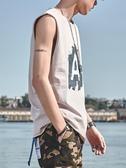 韓版潮流無袖T恤男純棉ins夏季籃球無袖背心運動寬鬆汗衫坎肩 印象家品