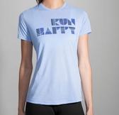 [陽光樂活] BROOKS (女) 微笑短T Run Happy Tee- BK221232494 海玻璃藍