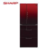 [SHARP 夏普]601公升 日本原裝六門變頻環保冰箱-星鑽紅 SJ-GF60BT-R