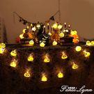 萬聖節南瓜燈串燈骷髏鬼燈酒店酒吧裝飾道具場景布置插電串燈 范思蓮恩