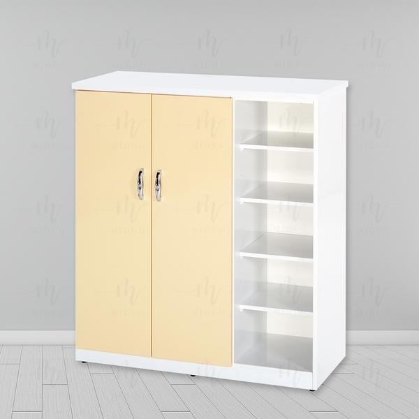 【米朵Miduo】4尺塑鋼兩門半開放鞋櫃 防水塑鋼家具