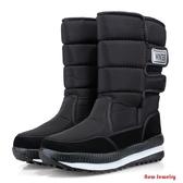 【新飾界】雪靴棉靴 雪地靴 中筒 保暖雪地棉鞋 防水 防滑 戶外棉靴