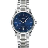 LONGINES浪琴 Master 巨擘經典機械錶-藍/38mm L26284926