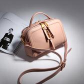【O-ni O-ni】真皮新款韓版牛皮手提包女士純色長方單肩包JZL-9131-1-粉色