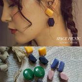 耳環 Space Picnic|幾何色塊造型設計垂墜式耳環(現+預)【C18101014】