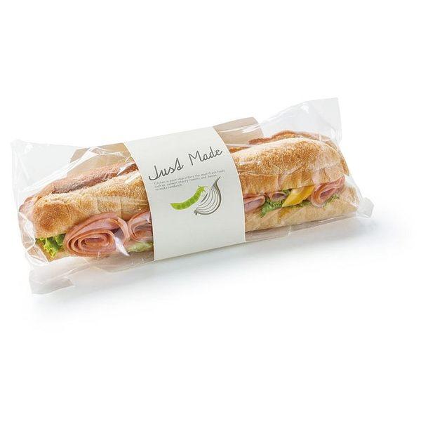 手繪自然法棍卡包裝盒(100個/組) 長條麵包 潛艇堡 三明治盒 輕食 包裝盒 漢堡紙 手工餅乾 西點