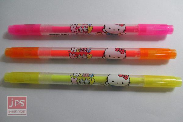 Hello Kitty 凱蒂貓 斜角雙頭螢光筆 雙頭 螢光筆 KRT-829403