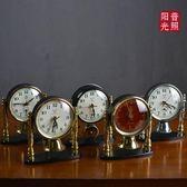 80 90年代懷舊收藏裝飾陳列帶鈴鐺的小鬧鐘 鐘表白鴿牌 機械 鬧鐘