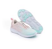 FILA 女款粉藍運動慢跑鞋-NO.5J309U531
