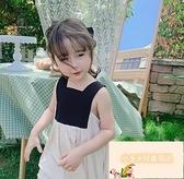 女童連身裙女童無袖露背夏裝公主裙兒童中大童【小玉米】