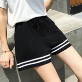 運動短褲2018新款運動短褲女夏季寬鬆闊腿外穿跑步休閒褲 曼莎時尚