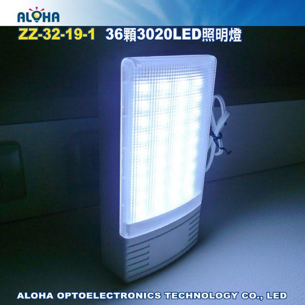 緊急照明設備 36顆3020LED照明燈-ABS防火合成樹脂 (ZZ-32-19-1)