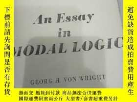 二手書博民逛書店《an罕見essay in modal logic。studie