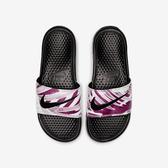 Nike WMNS Benassi JDI Print [618919-030] 女鞋 拖鞋 涼鞋 運動 雨天 黑粉