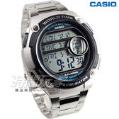 CASIO卡西歐 AE-3000WD-1A 球狀大錶面設計潮流運動數位電子錶 男錶 防水手錶 不銹鋼 銀 AE-3000WD-1AVDF