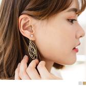 《ZC1172》多層次橢圓耳夾式耳環 OrangeBear