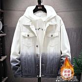 男外套 牛仔外套男春秋季新款韓版流漸變情侶裝加絨夾克加厚上衣服 夏季新品