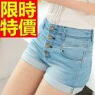 牛仔褲美臀明星同款-獨特流行單寧女牛仔短褲子2色57d8【巴黎精品】