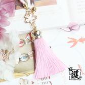 創意手機掛繩可愛和風櫻花鈴鐺流蘇手機鍊短吊墜手機掛件掛繩掛飾少女禮物