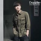 Doppler 軍裝夾克 韓系多口袋襯衫...